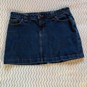 Patagonia Organic Cotton blue denim mini skirt 10
